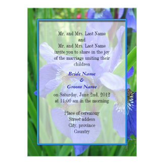 Bride and groom parents wedding invitation personalized invitation