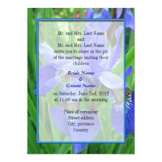 Bride and groom parents'  wedding invitation personalized invitation