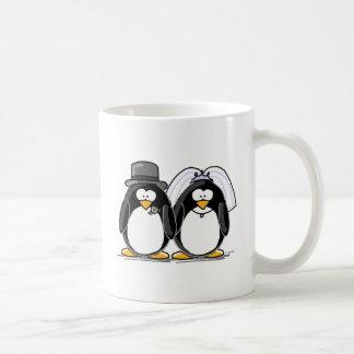 Bride and Groom Penguins Basic White Mug