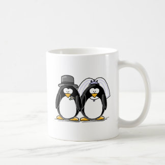 Bride and Groom Penguins Coffee Mug
