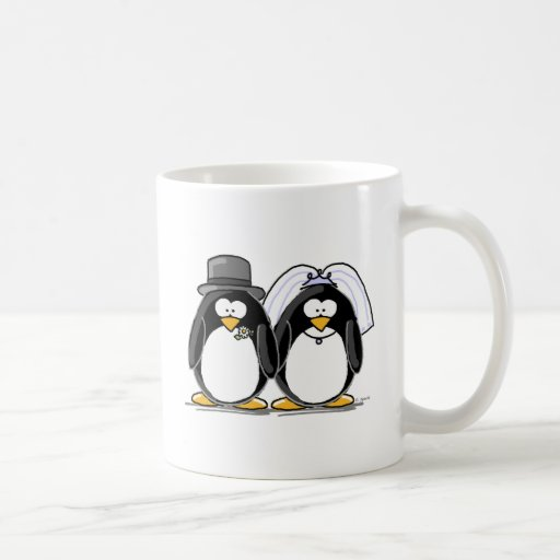 Bride and Groom Penguins Coffee Mugs
