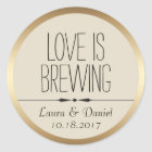 Bride and Groom Personalised Coffee Label