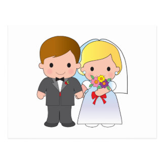 Bride and Groom Postcard