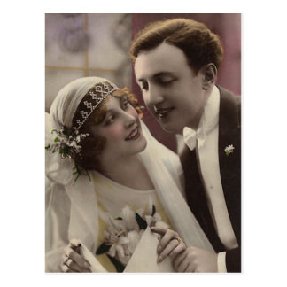 Bride and Groom Postcard