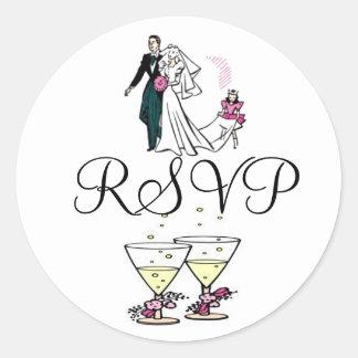 Bride and Groom RSVP Sticker