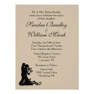 Bride and Groom Sandstone 17 Cm X 22 Cm Invitation Card