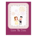 Bride and Groom Save The Date Card Customizeable Postcards