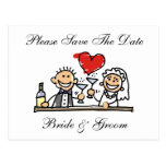 Bride And Groom Save The Dates Card Post Card
