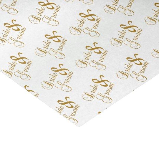 Bride and Groom Script Word Pattern Tissue Paper
