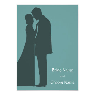 Bride and groom Silhouette Invitation