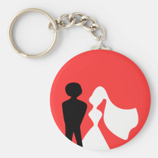 Bride and Groom Silhouette Key chain