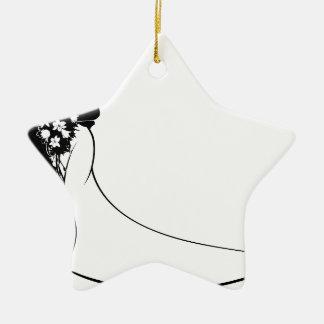 Bride and Groom Silhouette Wedding Concept Ceramic Star Decoration