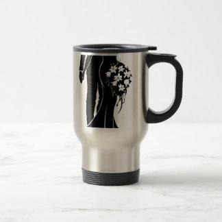 Bride and Groom Silhouette Wedding Concept Travel Mug