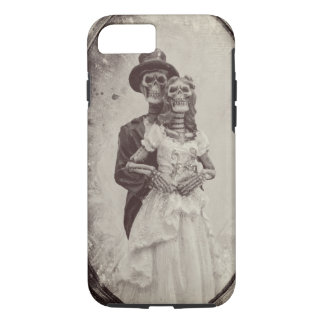 Bride and Groom Skeleton Halloween Phone Case