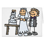 Bride and Groom Slice Cake Greeting Cards