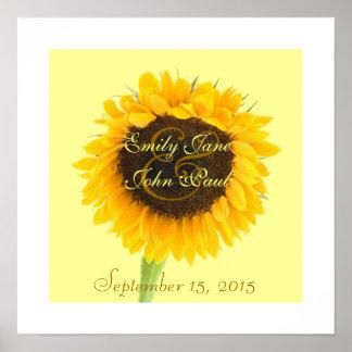 Bride and Groom Sunflower Print