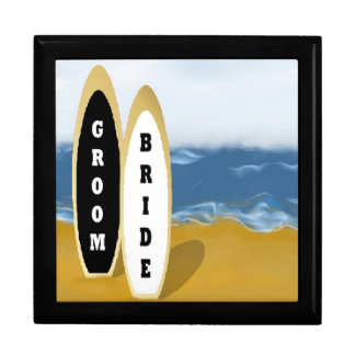 Bride and Groom Surf Boards Gift Box