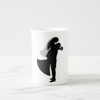BRIDE AND GROOM TEA CUP