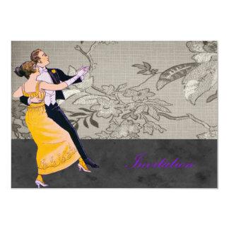 Bride And Groom Waltz 13 Cm X 18 Cm Invitation Card