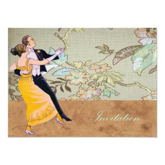 Bride And Groom Waltz 14 Cm X 19 Cm Invitation Card