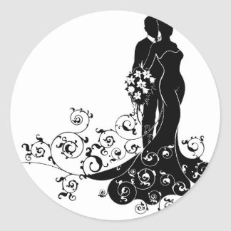Bride Silhouette Stickers