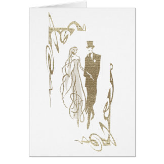 Bride and Groom Wedding & Anniversary Art Gifts Note Card