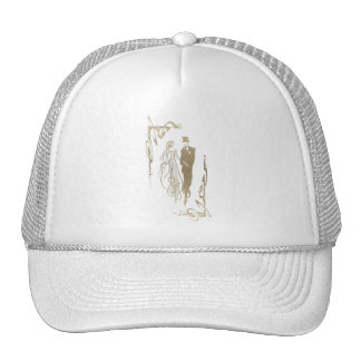 Bride and Groom Wedding & Anniversary Art Gifts Mesh Hats