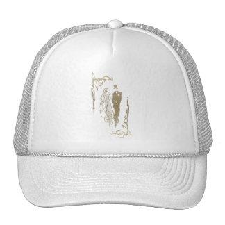 Bride and Groom Wedding & Anniversary Art Gifts Mesh Hats