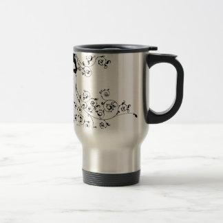 Bride and Groom Wedding Couple Silhouettes Travel Mug
