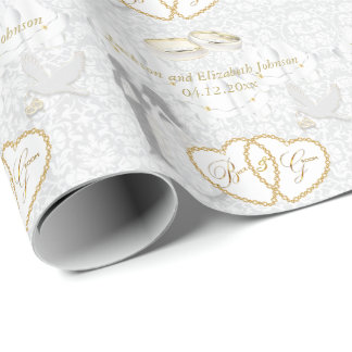 Bride and Groom Wedding Day Wrapping Paper