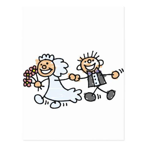 Bride And Groom Wedding Elope Elopement Postcard