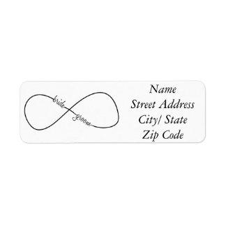 Bride and Groom Wedding Infinity Return Address Label