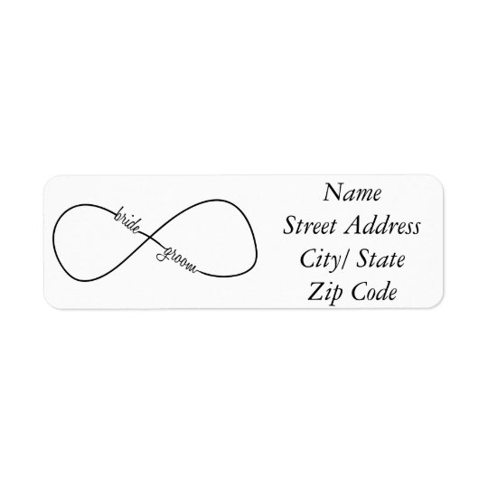 Bride and Groom Wedding Infinity Return Address Label