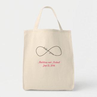 Bride and Groom Wedding Infinity Tote Bag