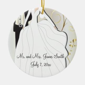 Bride and Groom Wedding Keepsake Christmas Ornament