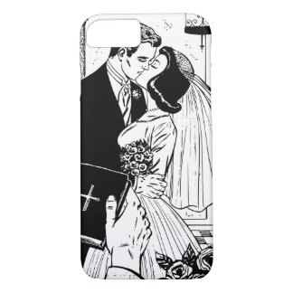 Bride and Groom Wedding Kiss Vintage Christian iPhone 7 Case