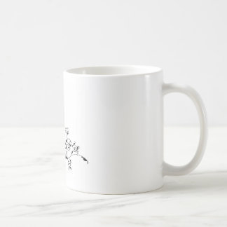 Bride and Groom Wedding Pattern Dress Silhouette Coffee Mug