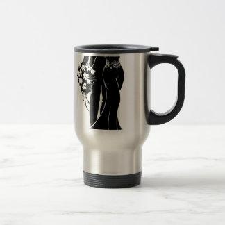 Bride and Groom Wedding Silhouette Travel Mug