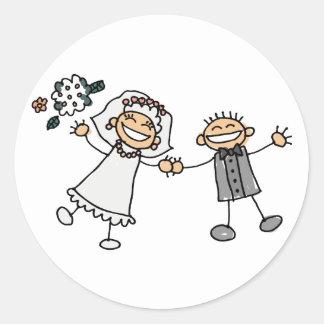 Bride and Groom Wedding Stickers