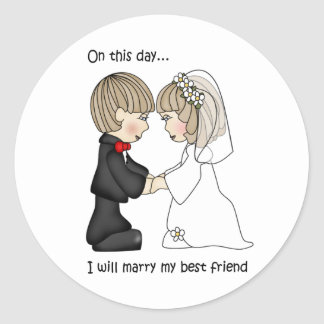 Bride and Groom Wedding Stickers
