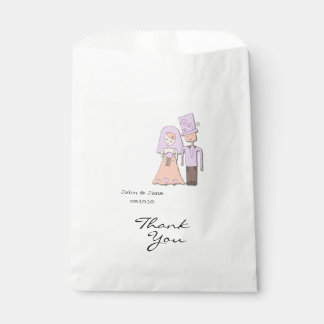 Bride and Groom Wedding Thank you favor bag Favour Bags
