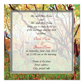 Bride and groom's parents invitation personalized announcement