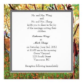 Bride and groom's parents invitation personalized invite