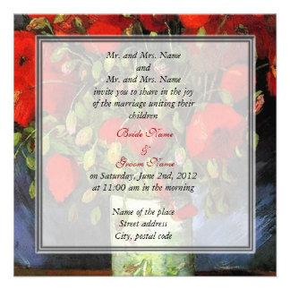 bride and groom's parents wedding invitation invitation