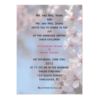 bride and groom's parents wedding invitation personalized invitation