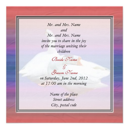 bride and groom's parents wedding invitation personalized announcement