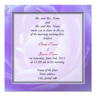 bride and groom's parents wedding invitation custom invites
