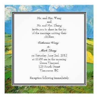 bride and groom's parents wedding invitation personalized announcements