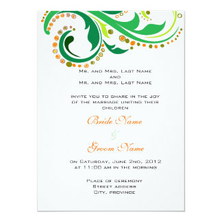 bride and groom's parents wedding invitations custom announcements