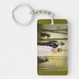 Bride And Groon Skeletons Keychain